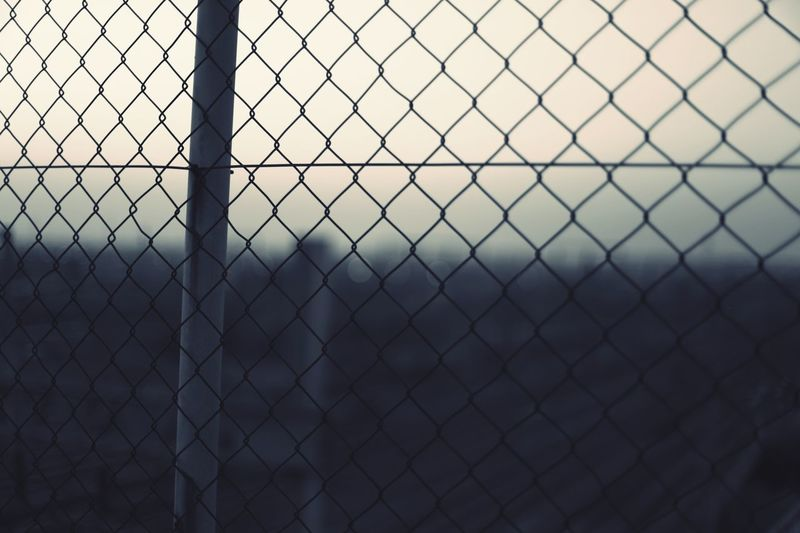 Chainlink Fence No People Protection Metal Sky Pattern Outdoors Nature Close-up Day