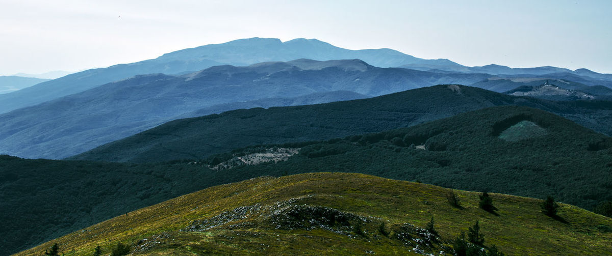 Hiking Panorama Travel Adventure Balkan Mountains Beauty In Nature Day Grass Hikingadventures Landscape Mountain Mountain Range Nature No People Outdoors Scenics Sky Stara Planina Tranquil Scene Tranquility