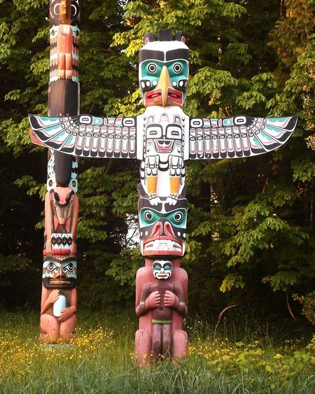 Statue Native Canadian Indian Totem Pole Architecture Stanley Park Vancouver BC Nature_collection Beauty In Nature Nature Relaxing Time