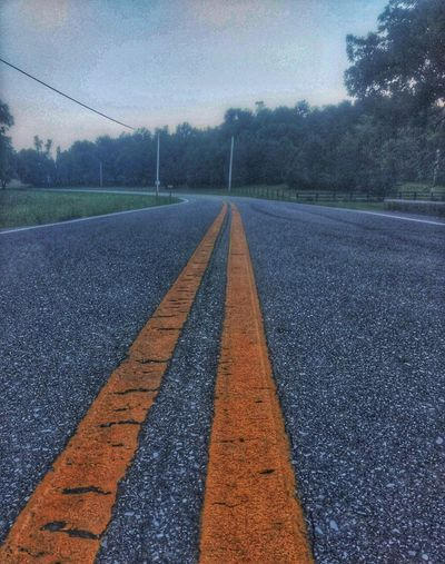 hit the road Astronomy Road Sky Empty Road Infinity Double Yellow Line The Way Forward Country Road Asphalt Road Marking Yellow Line