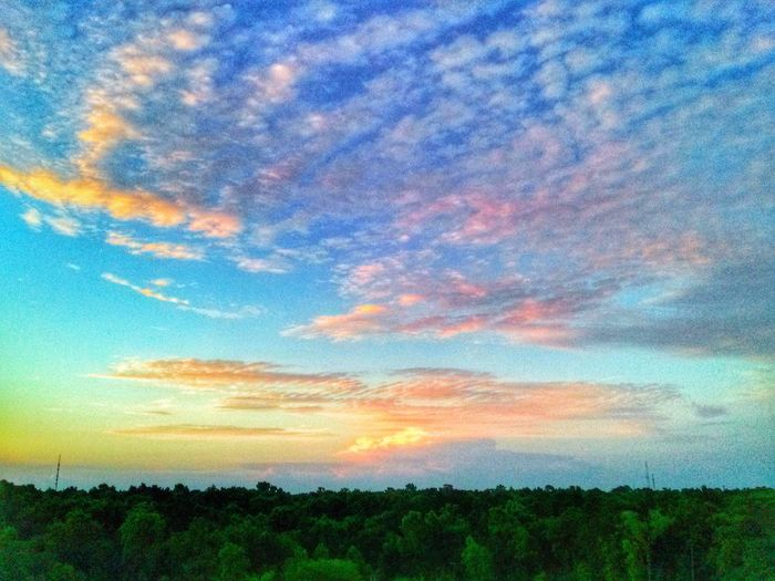 Morning glory. Sunrise Landscape Cloud And Sky Nature
