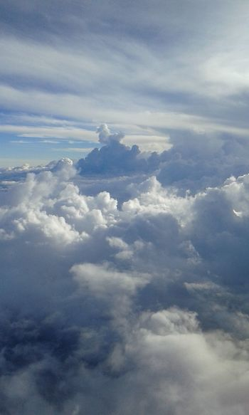 Cloud Sea (雲海) Cloud - Sky Nature Cloudscape Tranquility Blue Outdoors No People Sky Travel Day Ethereal Backgrounds Beauty In Nature Plane Landscape Above Flying Planet Earth Space