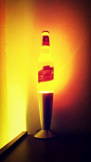 Miller Time Beer Lamp Lavalamp