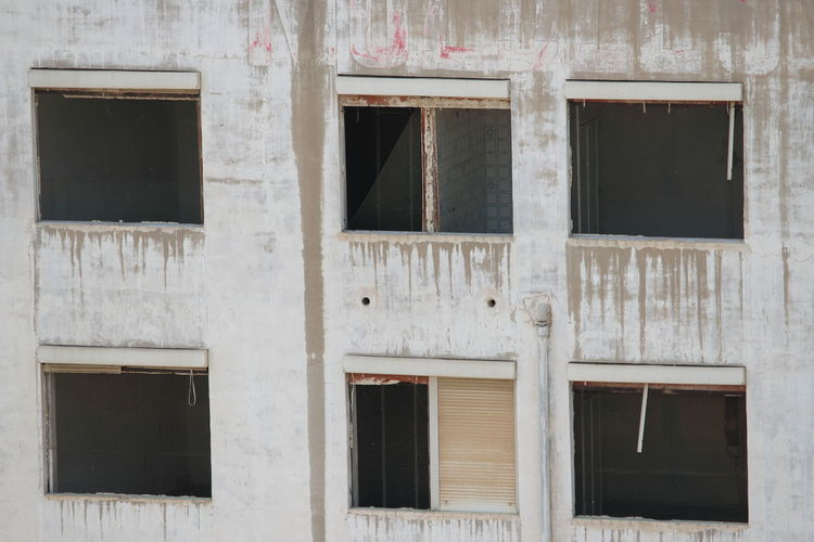 Abandoned Architecture Backgrounds Building Building Exterior Built Structure Damaged Day Full Frame Glass - Material House No People Old Outdoors Pattern Residential District Wall Wall - Building Feature Window Window Frame Wood - Material