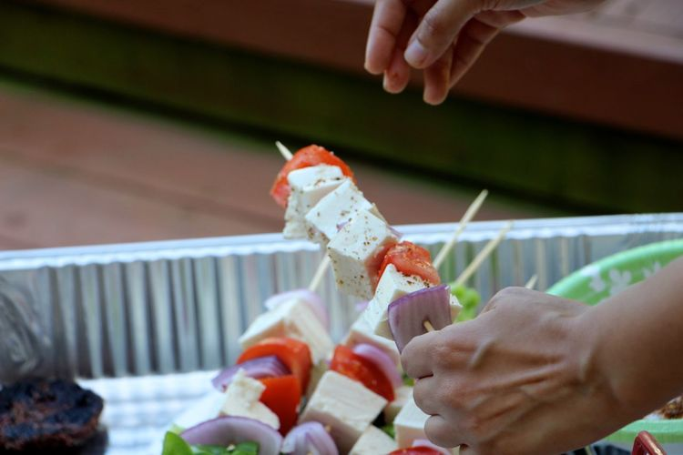 Skewers with Paneer Grilling Out With Friends United States My World Of Food Hands At Work