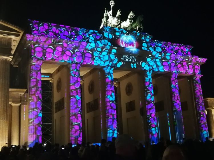 festival of Lights Festival Of Lights Brandenburger Tor Light Projection Colorful Berlin By Night Architecture Berlin Photography Germany Crowd City Illuminated Nightlife Multi Colored Arts Culture And Entertainment Architecture Live Event