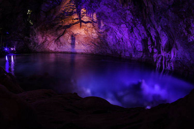 Colors Mexico Nature Nautral  Cave Cenote Purple Water