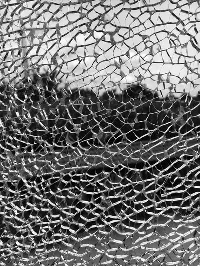 Glasbruch Glasbruch Destroyed Bruch Kaputt Glass Full Frame Backgrounds Pattern No People Nature Day Textured  Outdoors Glass - Material Cracked Window Close-up