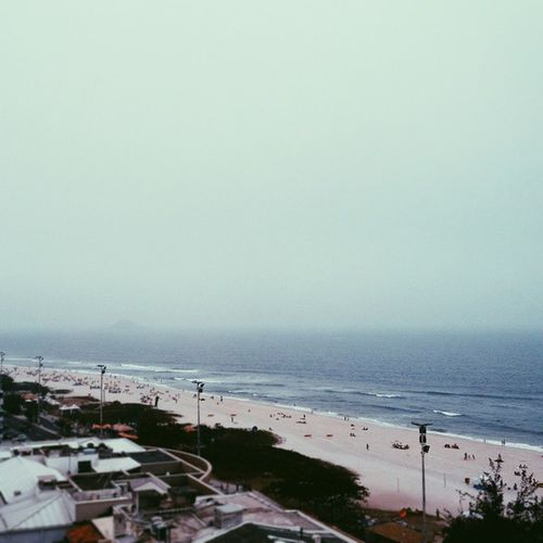 Foggy Rio. Rio Brazil BarraRJ Mist Sunday