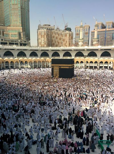 #Haram #muslim #ksa #mecca Adult Architecture Building Exterior Built Structure City Clear Sky Crowd Day Large Group Of People Men Outdoors People Real People Sky Togetherness