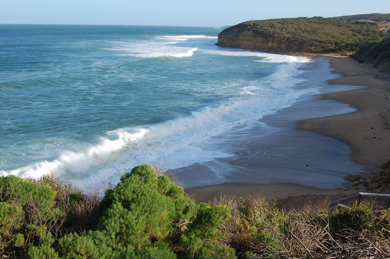 Bells Beach. Australia. Film location for Point Break. Sea Water Land Beach Beauty In Nature Wave Motion Aquatic Sport Scenics - Nature Surfing Sport Nature Day Plant Horizon Over Water Tranquil Scene Horizon Tranquility Outdoors Bells Beach Great Ocean Road Surf Beach Australia