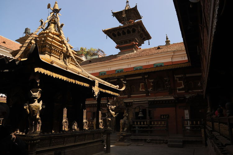 Nepal Architecture Art And Craft Building Exterior Built Structure Day Dragon History Human Representation Low Angle View No People Outdoors Place Of Worship Religion Sculpture Sky Spirituality Statue Travel Destinations