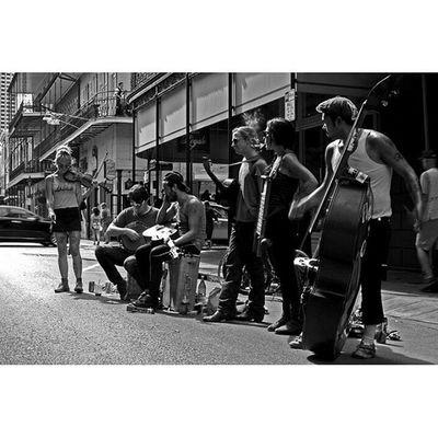 Band Between Songs Neworleans NOLA Thisisneworleans Louisiana music oldtimey streetperformer streetportrait streetphotography blackandwhite bnw monochrome 35mm canon photooftheday travel