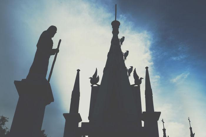 Silhouette Cloud - Sky Sky Outdoors Statue Travel Philippines Simala Church Catholic Castle Church Church Cebu City Silouette And Shadows EyeEm Best Shots Weekly_feature WeekOnEyeEm Architecture_collection Architecture_bw Weekly Eyeem Photo Of The Day The Week On EyeEm