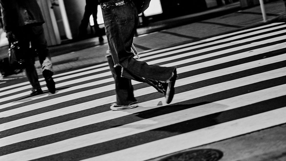 your story walking... Bnw Cheeky Cheerful City Contrast Creative Crossing Flares Fun Human Leg Jeans Low Angle View Monochrome Outdoors Pedestrian Real People Shoes Sneakers Street Street Life Streetphoto_bw Streetphotography Striped Walking Zebra Crossing