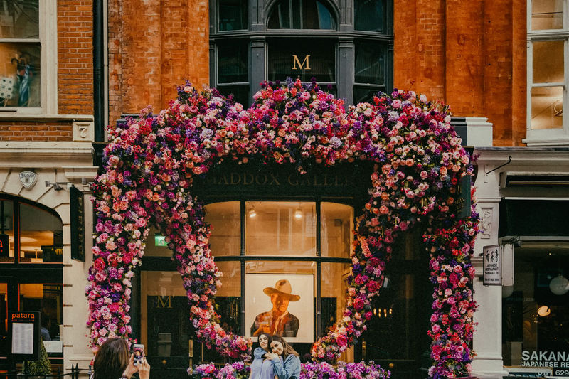 Architecture Beauty In Nature Building Building Exterior Built Structure Celebration Christmas Day Decoration Festival Flower Flowering Plant Madoxgallery Nature Outdoors Pink Color Plant Real People Window