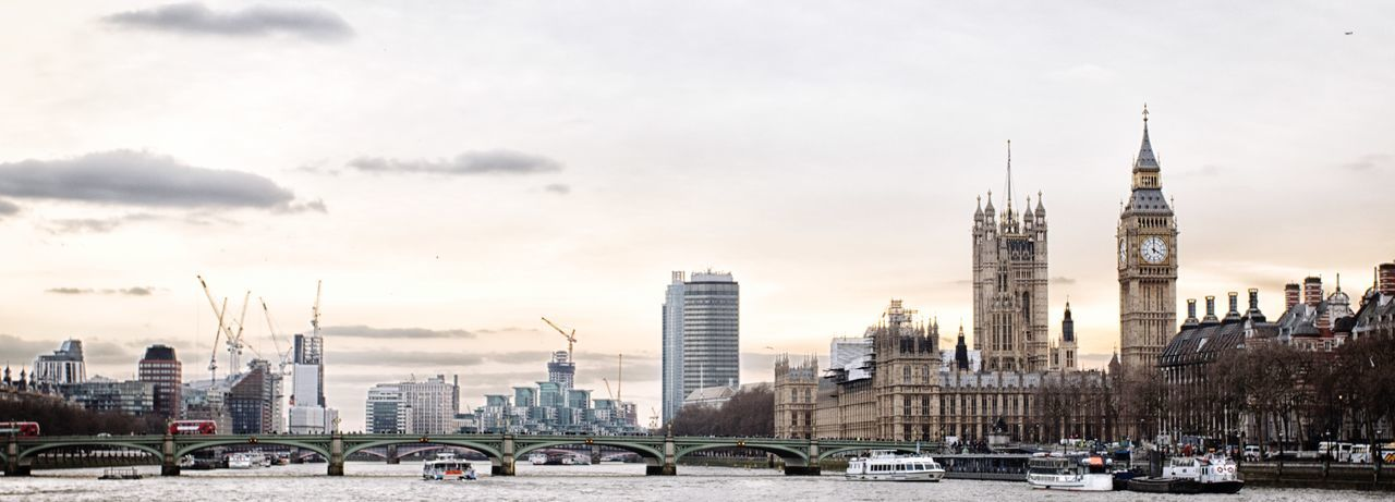 River Thames skyline Water Riverside River London Houses Of Parliament Skyline River Thames Skyline River Thames EyeEm Selects Architecture Building Exterior Built Structure City Tall - High Skyscraper Travel Destinations Cityscape Sky Travel Modern Cloud - Sky Outdoors Urban Skyline Day
