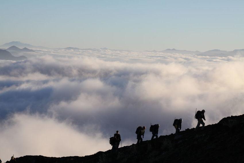 Chile Climbing A Mountain Villarrica Villarrica Volcano Climbing Clounds  Mountain Mountain Climbing To The Top To The Top Of The Mountain Volcanic Landscape Volcano Volcán First Eyeem Photo