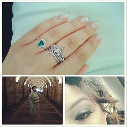 Mint Green Emerald Stackrings
