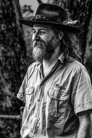 Beard Black & White Blackandwhite Feather  Happy Hat Hippie Man Man With Hat Portrait Portrait Of A Man  Smiling Tourguide