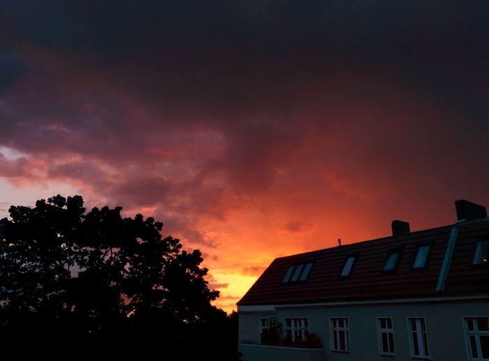 Sunset over Neukölln Beauty In Nature Cloud - Sky Dramatic Sky Neukölln Neukölln Sunset Nkstyle No People Orange Color Sky Sunset