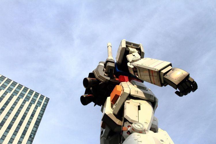 Low angle view of robot