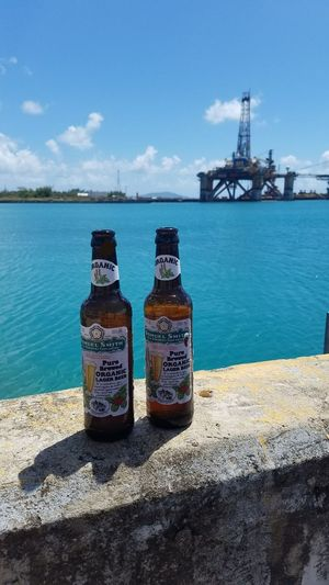 Sea Sky Beach Outdoors Scenics Day Nature Beer Time Beers Cheers Tropical Island Samuel Smith Organic Paradise Latino Puerto Rico