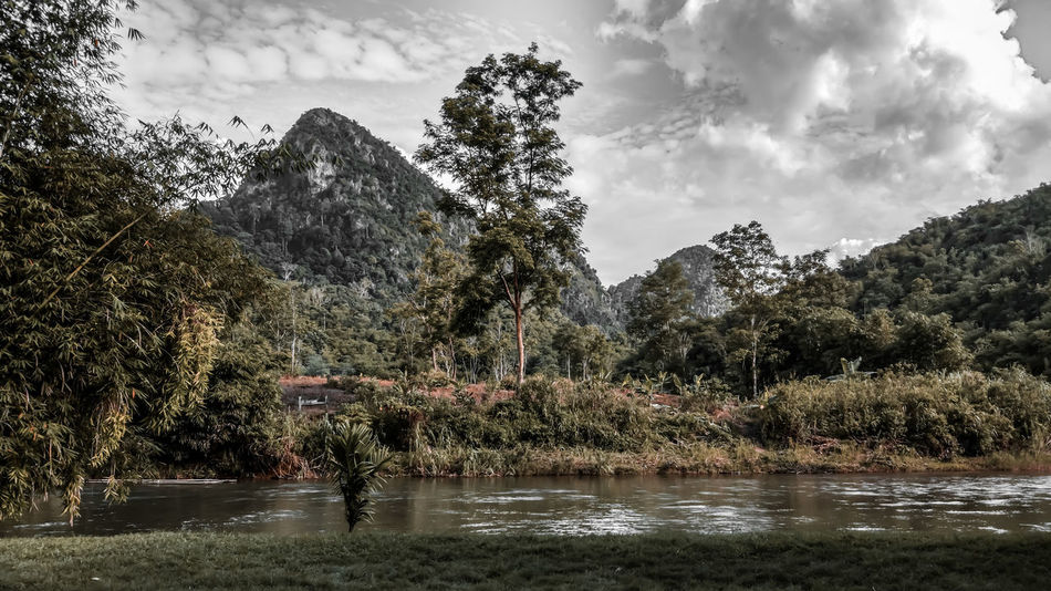 EyeEm Indonesia Landscape Landscape_Collection Landscape_photography Water Tree Cloud - Sky Outdoors Sky Nature Day Spraying No People Scenics Mountain Forest Beauty In Nature Tranquility Lake Growth Colour Your Horizn