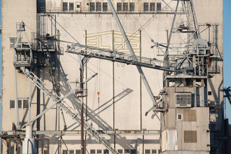 Cranes in city