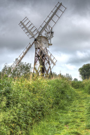 Wind Pump Norfolk Broads HDR Norfolk Alternative Energy Architecture Broads Cloud - Sky Environment Environmental Conservation Landscape No People Outdoors Renewable Energy Traditional Windmill Wind Power Wind Pump Wind Turbine