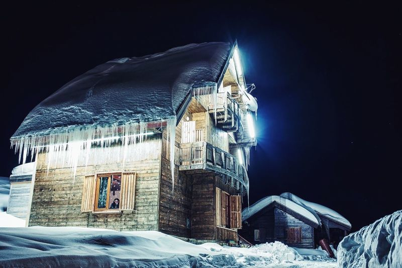 Snow Winter Cold Temperature Architecture Building Exterior Tower No People Built Structure Travel Destinations Sky City Outdoors Night