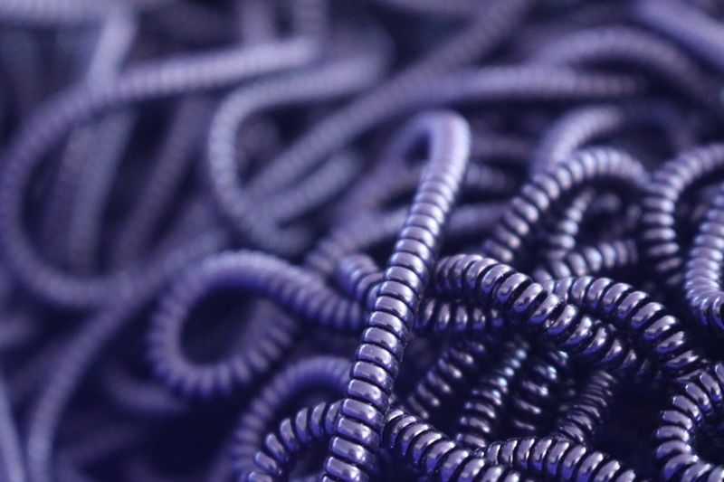 Black and purple Plastic Band HoCo