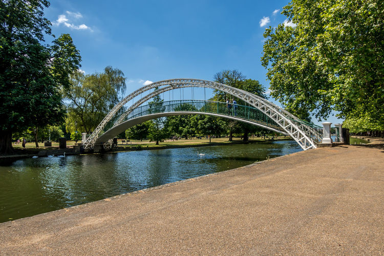 River Ouse Bedford Suspension Bridge Tree Plant Bridge Water Connection Built Structure Architecture Sky Bridge - Man Made Structure Nature No People Day Cloud - Sky Arch River Outdoors Growth Park Footbridge Arch Bridge Bedfordshire