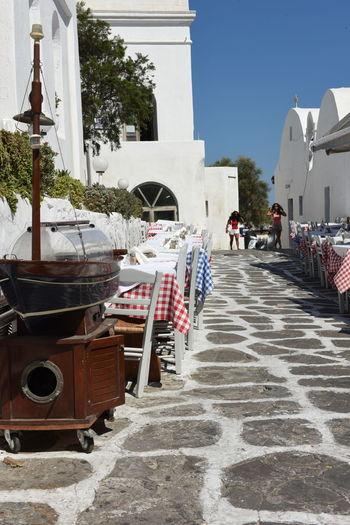 Aegean Aegean Islands Aegean Sea Bar Blauer Himmel Blue Sky Greece GREECE ♥♥ Hellas Kykladen Kyklades Mykonos Mykonos,Greece Places Platz Restaurant Straße Street ägaisches Meer ägäis ägäische Inseln