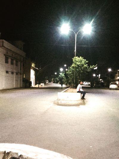 night out #nightout #photography City Illuminated Full Length Men Street Light Tree Sky First Eyeem Photo