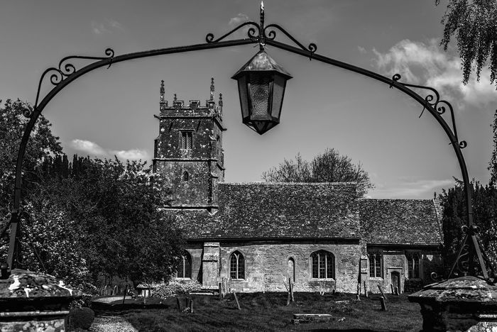 Church in Didbrook Arch Architecture Building Exterior Built Structure Church Church Architecture Churches Day Gate Gateway Monochromatic Monochrome Monochrome Photography No People Outdoors