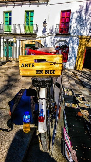 Artebici Bicycle Art Arts Culture And Entertainment Colors Fotomobile Fotography Outdoors Day Sky No People City Architecture