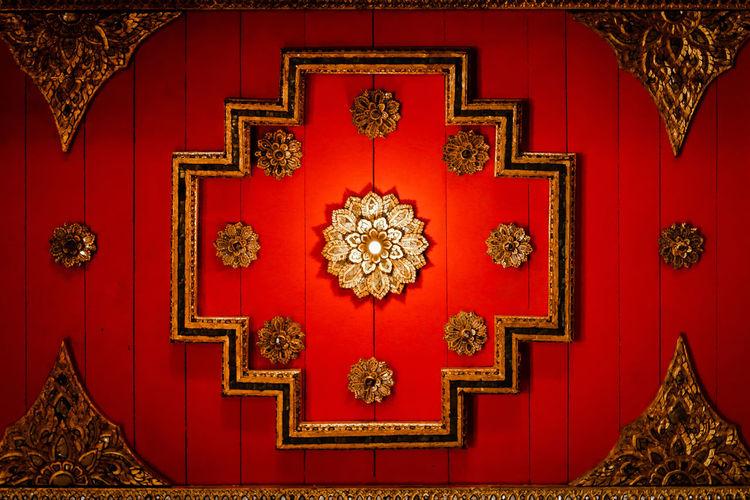 View of red door