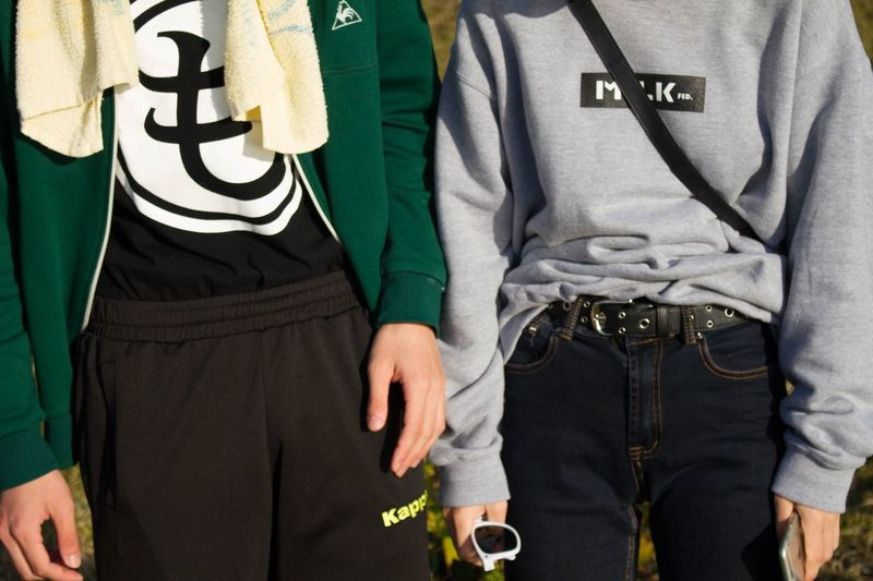 Midsection Casual Clothing Two People Adults Only Standing Day People Outdoors Adult Canon7d  Tokyo,Japan OpenEdit Real People Photooftheday