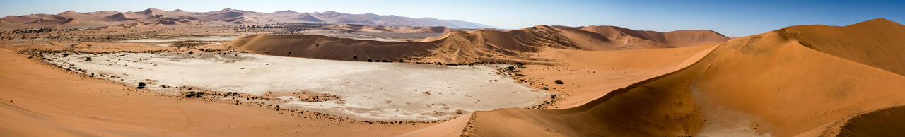 Arid Arid Landscape Clay Desert Desolate Dunes Dunes Sand Dunescape Namibia Namibia Landscape Panorama Panoramic View Remote Sossusvlei Vacations Lost In The Landscape