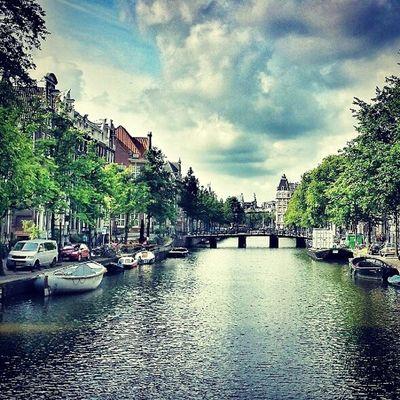 Amsterdam Amsterdam Netherlands Birthdaycelebrations Meandmyman lovethisplace canal landscape water street