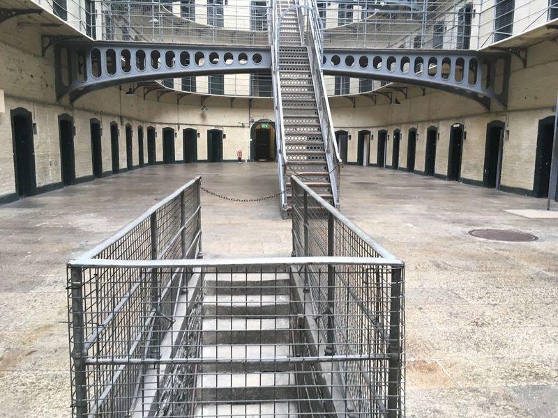KilmainhamGaol Lonley Place Prison Jail Prison Cell Cell 1916 Light Through The Window Light And Dark