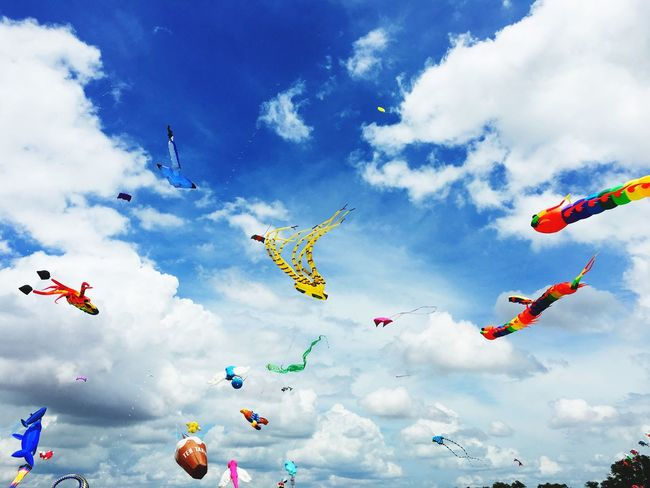 Cloud - Sky Multi Colored Windy Day Outdoors Day Pasir Gudang World Kite Festival EyeEmNewHere Paint The Town Yellow
