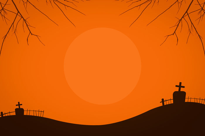 Silhouette of the scary tomb and full moon on Halloween night. Alone Ghost Halloween Halloween Horrors Halloween_Collection Horror Spooky Trees Trick Or Treat Graveyard Halloweenparty Nature Orange Color Outdoors Party Scary Scenics - Nature Silhouette Sky Spooky Spooky Forrest Sun Sunlight Sunset Tranquil Scene Tranquility