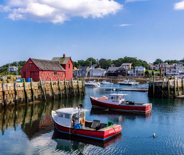 Motif 1 Rockport Ma Architecture Building Building Exterior Built Structure Cloud - Sky Fishing Boat Nautical Vessel Outdoors Sailboat Sky Transportation Water Waterfront