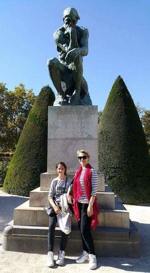 Paris ❤ Rodin Museum Rodin Garden Rodin Sculpture Le Penseur Mather And Daughter October Day