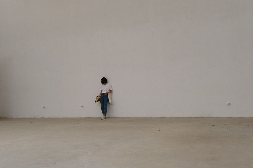 That white wall, 2017 Full Length One Person Outdoors Standing People Day Adults Only Adult Only Women Women Shoe Leisure Activity Architecture Out Of The Box Live For The Story Place Of Heart EyeEmNewHere The Architect - 2017 EyeEm Awards The Street Photographer - 2017 EyeEm Awards The Great Outdoors - 2017 EyeEm Awards The Portraitist - 2017 EyeEm Awards EyeEm Selects