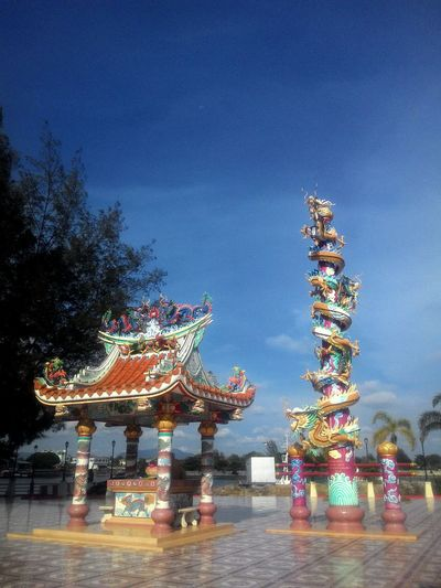 Amusement Park Arts Culture And Entertainment Night Amusement Park Ride Illuminated Traditional Festival Multi Colored Low Angle View Sky Outdoors No People Carousel