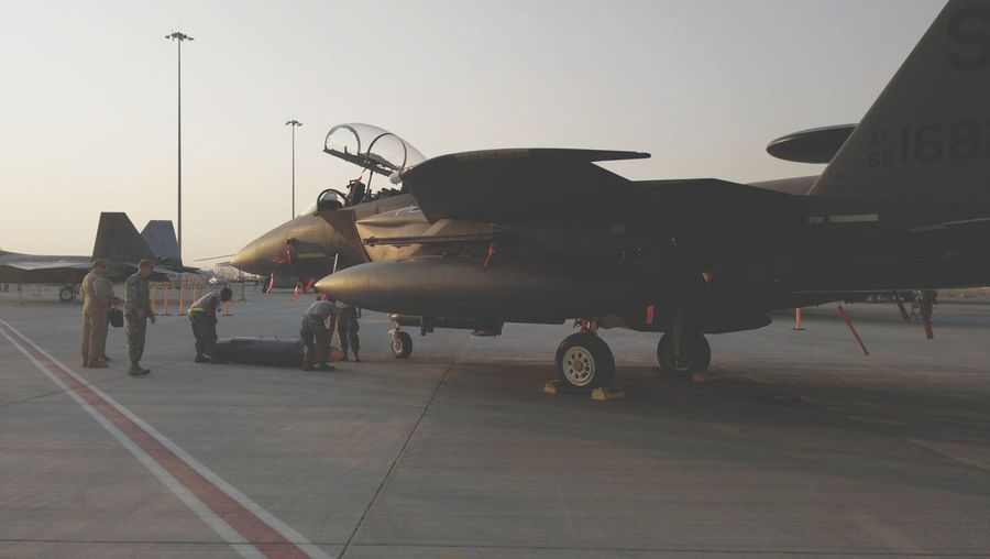 Aerospace Industry Military Airplane US Air Force Dubai Airshow Fighterjet