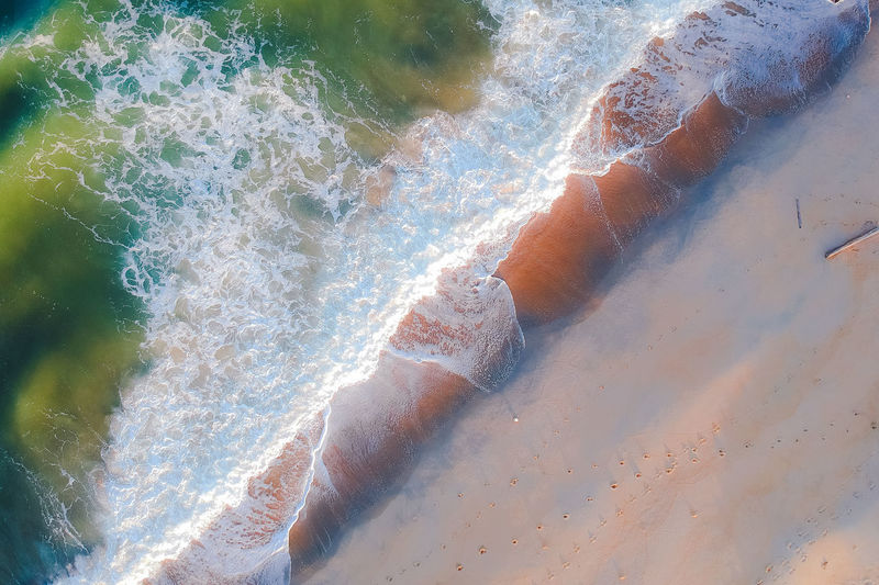 loving of colourful wave Water Nature Day High Angle View No People Motion Sea Sunlight Close-up Outdoors Beauty In Nature Land Full Frame Beach Sport Sand Pattern Speed Tranquility